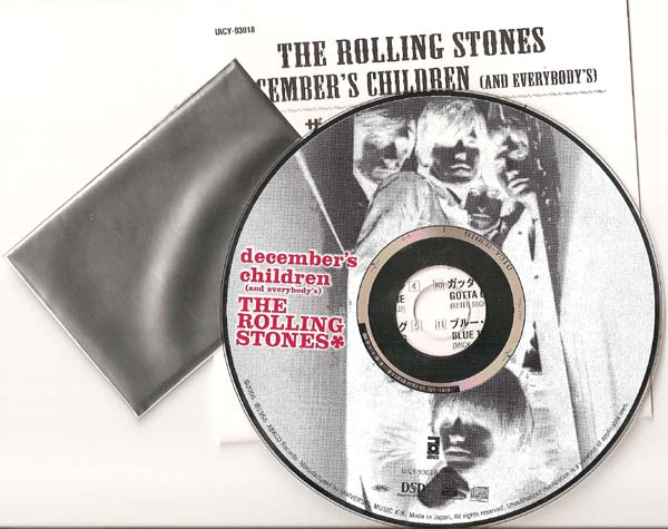 Disc, Insert, & still sealed Collector Card, Rolling Stones (The) - December's Children
