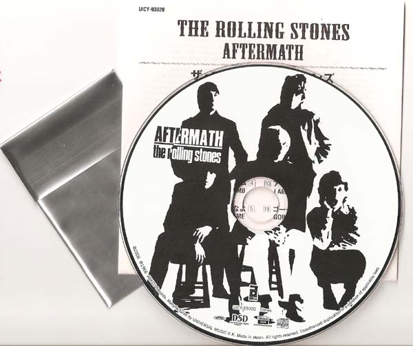 Disc, Insert, & still sealed Collector Card, Rolling Stones (The) - Aftermath (US)