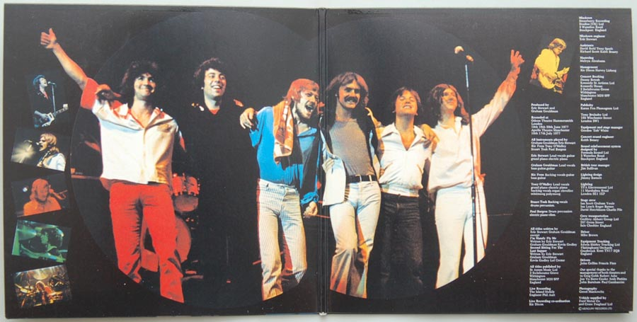 Gatefold open, 10cc - Live and Let Live