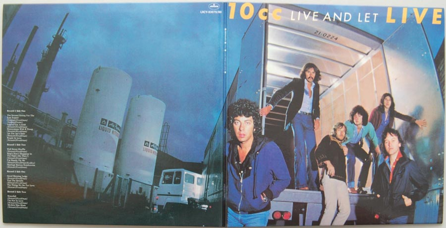 Cover unfold, 10cc - Live and Let Live