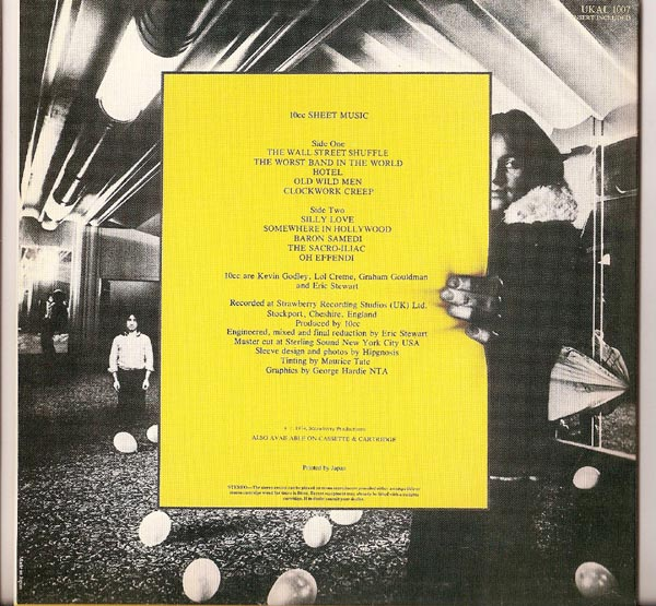 Back Cover, 10cc - Sheet Music (+ 3)