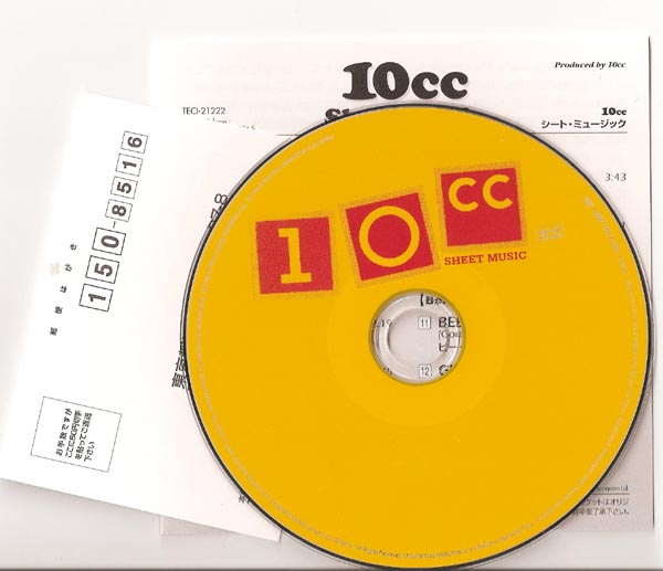 , 10cc - Sheet Music (+ 3)