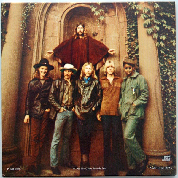 Back cover, Allman Brothers Band (The) - The Allman Brothers Band