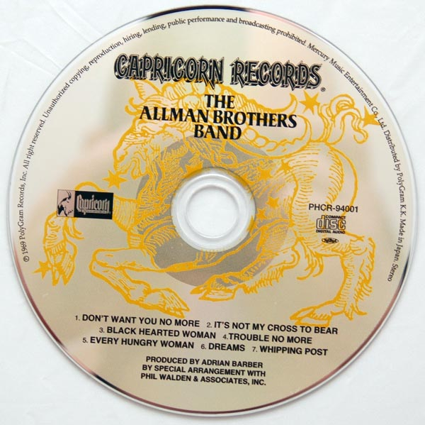 CD, Allman Brothers Band (The) - The Allman Brothers Band