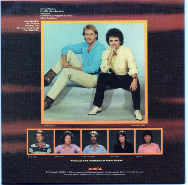 back, Air Supply - Now And Forever