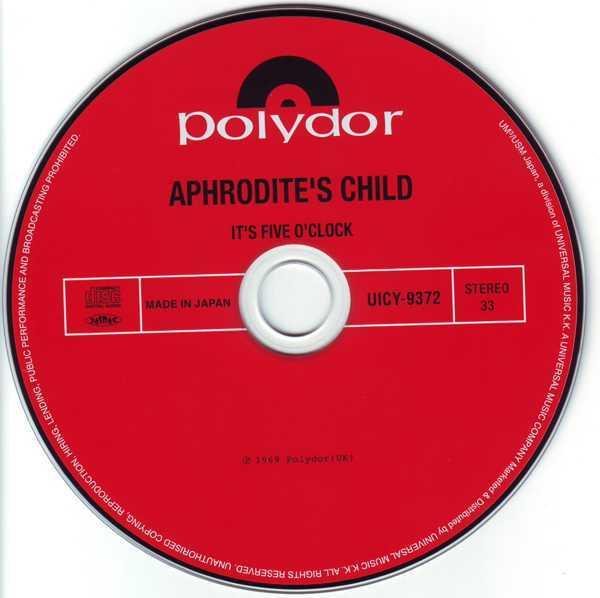 CD, Aphrodite's Child - It's Five O'Clock