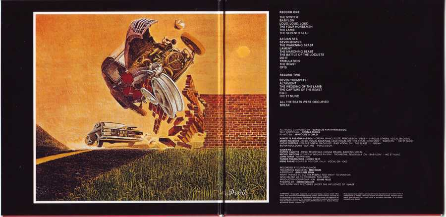 Cover Gatefold Center, Aphrodite's Child - 666