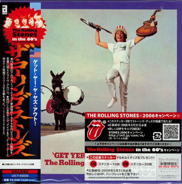 Sample cover with sticker on outer protective sleeve, Rolling Stones (The) - In the 60's
