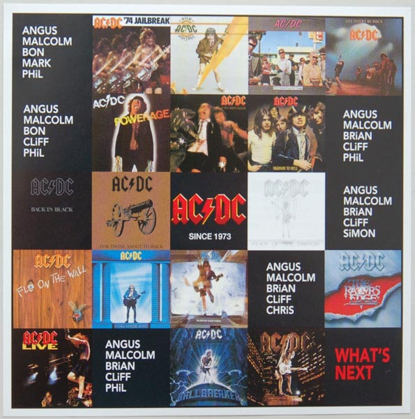Insert front side (for all the serie), AC/DC - Complete Vinyl Replica Series