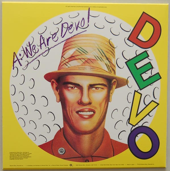 Back cover, Devo - Q: Are We Not Men? A: We Are Devo