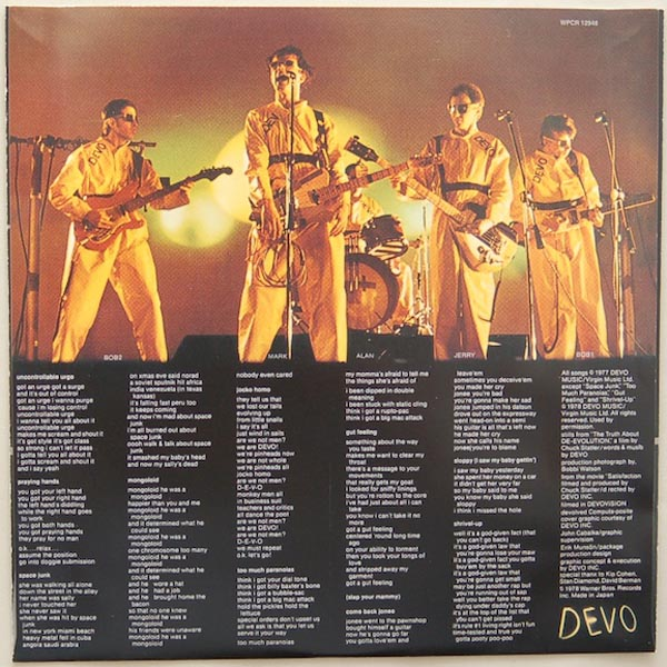Inner sleeve side B, Devo - Q: Are We Not Men? A: We Are Devo