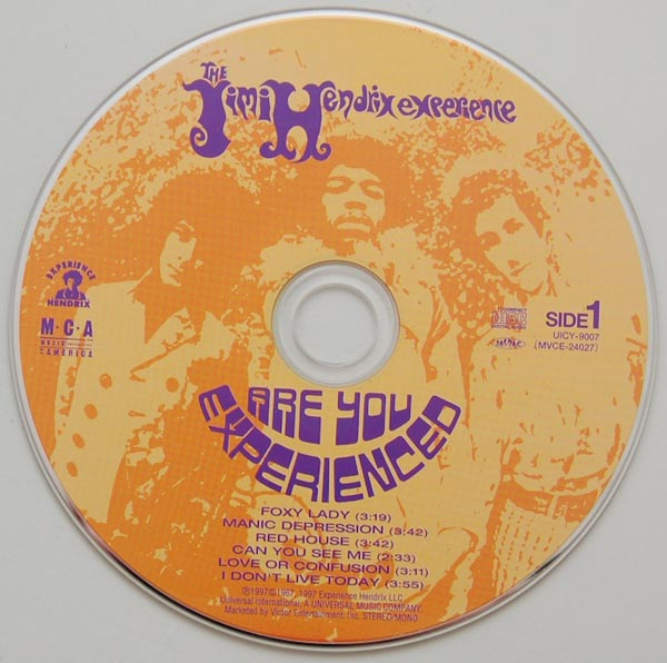 CD, Hendrix, Jimi - Are You Experienced