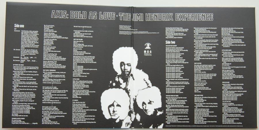 Gatefold open, Hendrix, Jimi - Axis: Bold As Love