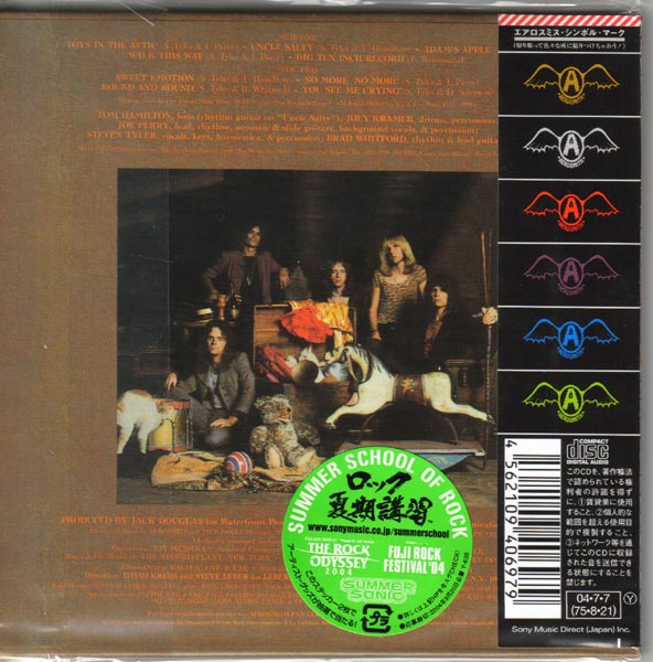 Back Cover, Aerosmith - Toys In the Attic