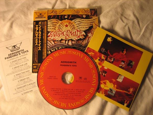 inserts and CD, Aerosmith - Pandora's Toys