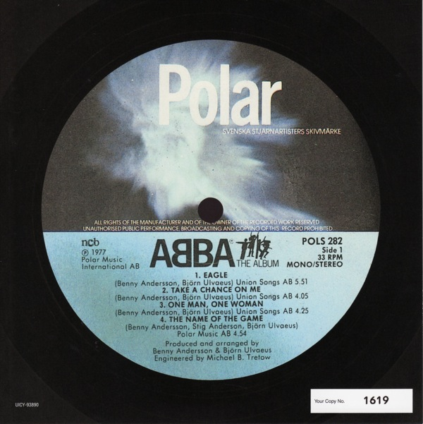 original label design a, Abba - The Album +1
