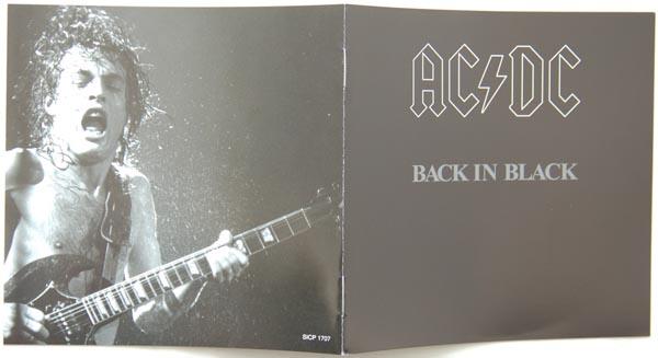 Booklet, AC/DC - Back In Black
