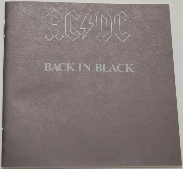 Lyric book, AC/DC - Back In Black