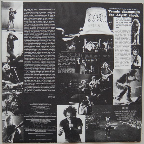 Inner sleeve side B, AC/DC - Back In Black