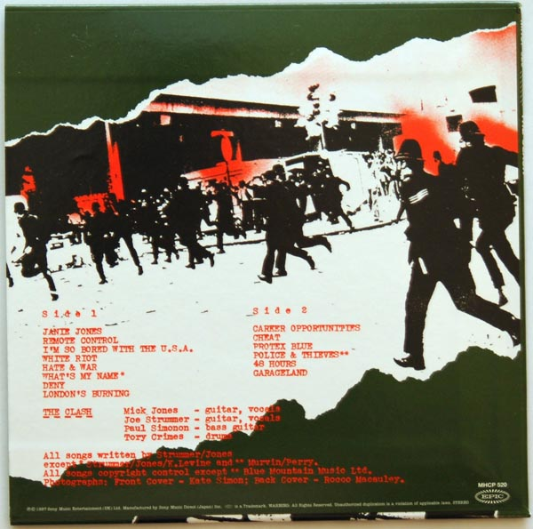Backcover, Clash (The) - The Clash
