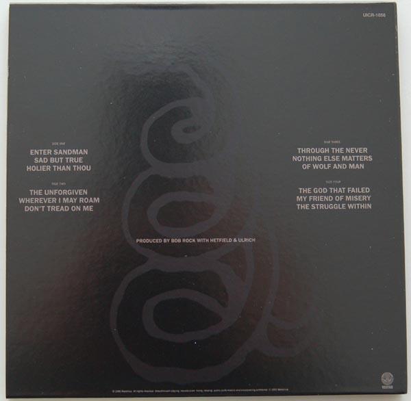 Back cover, Metallica - Metallica (Black album)