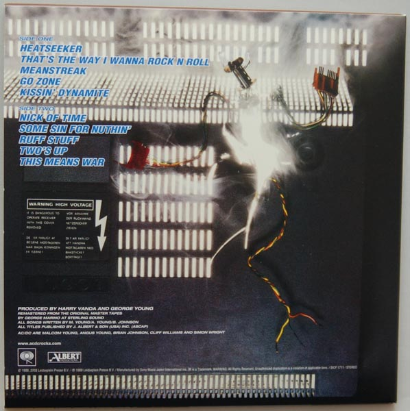 Back cover, AC/DC - Blow Up Your Video