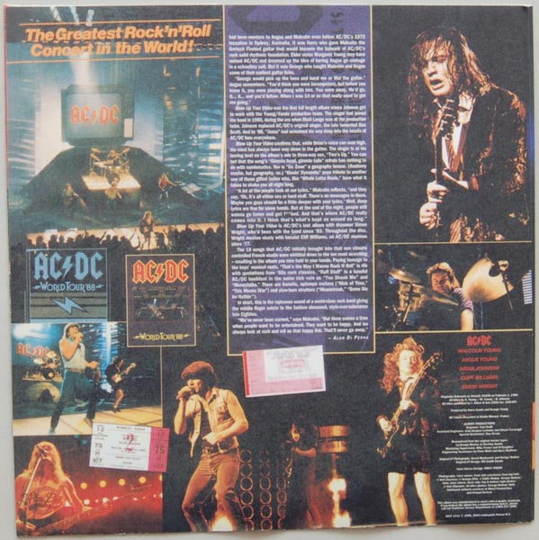 Inner sleeve side B, AC/DC - Blow Up Your Video