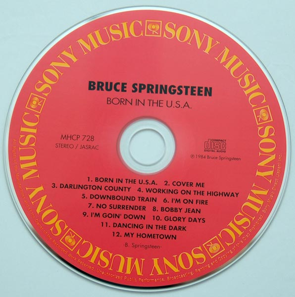 CD, Springsteen, Bruce - Born In The USA