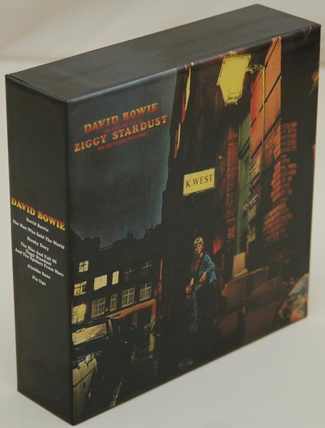 Front Lateral View, Bowie, David - Ziggy Stardust Box and Promo Obis