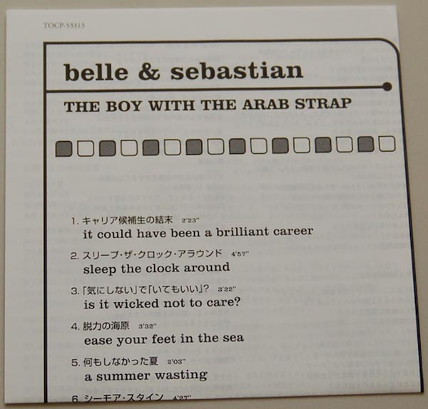 Lyric book, Belle + Sebastian - The Boy With The Arab Strap