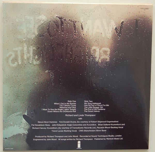 Back cover, Thompson, Richard + Thompson, Linda - I Want To See The Bright Light Tonight +3