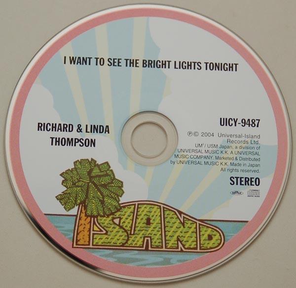 CD, Thompson, Richard + Thompson, Linda - I Want To See The Bright Light Tonight +3