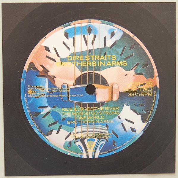 Back Label, Dire Straits - Brothers In Arms