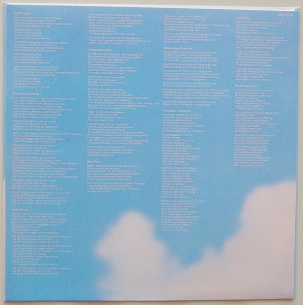 Inner sleeve side B, Dire Straits - Brothers In Arms
