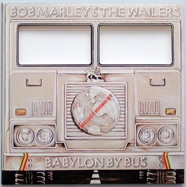 Front cover showing the cutout windows, Marley, Bob - Babylon by Bus