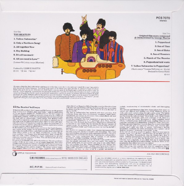 back, Beatles (The) - Yellow Submarine