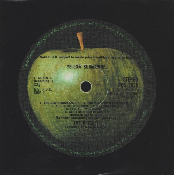 innersleeve side A, Beatles (The) - Yellow Submarine