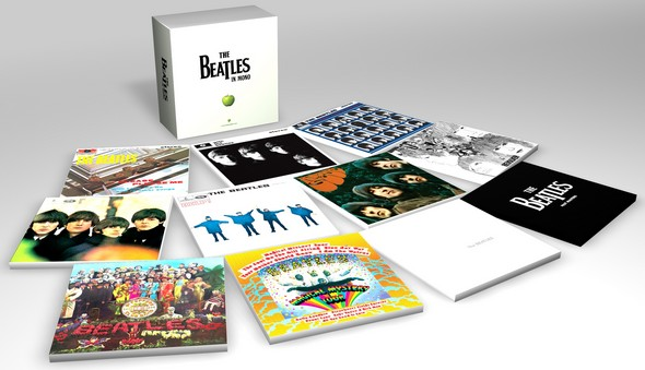 Basic box contents - mock covers only - promotional image? (black cover booklet?), Beatles (The) - The Beatles in Mono