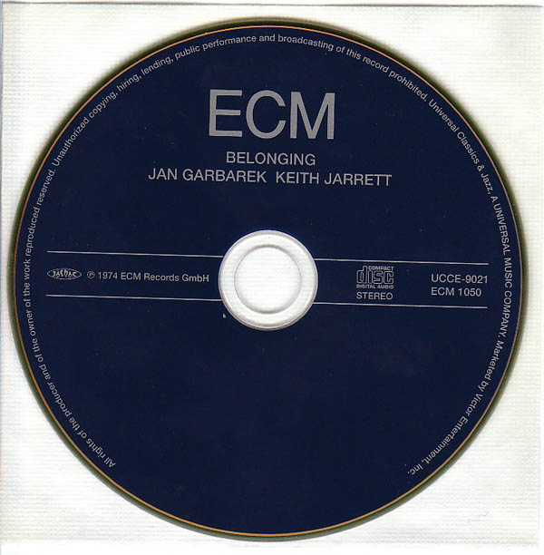 CD, Jarrett, Keith - Belonging