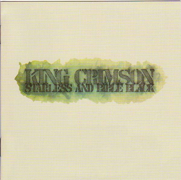 Press Cuttings Booklet Cover, King Crimson - Starless And Bible Black