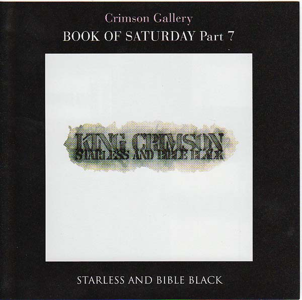 'Book Of Saturday', King Crimson - Starless And Bible Black