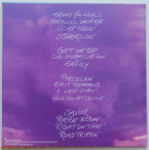 Back cover, Red Hot Chili Peppers - Californication +1