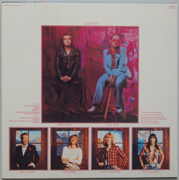 Back cover, John, Elton - Caribou