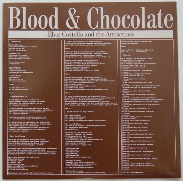 Inner sleeve A, Costello, Elvis - Blood and Chocolate