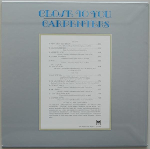 Back cover, Carpenters - Close To You