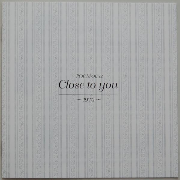 Lyric book, Carpenters - Close To You