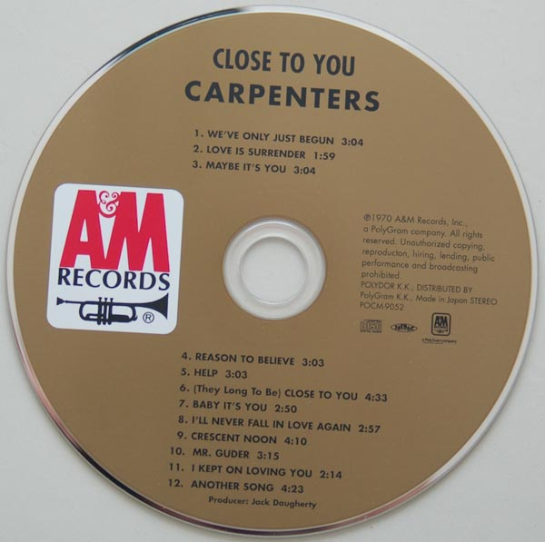 CD, Carpenters - Close To You