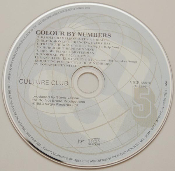 Japanese Paper Sleeve Mini Vinyl LP Replica CD Culture Club VJCP 68870 Colour By Numbers ...