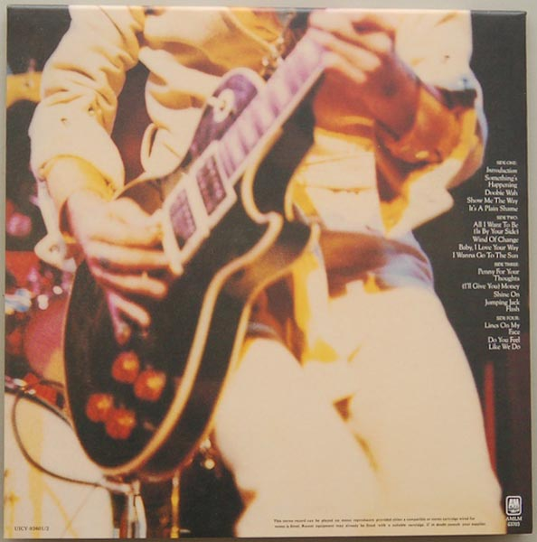 Back cover, Frampton, Peter - Frampton Comes Alive! (+4)