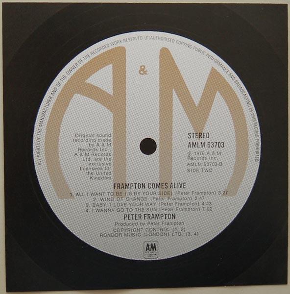 Back Label, Frampton, Peter - Frampton Comes Alive! (+4)